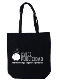 Bolsa de tocuyo en color negro en allpublicidad