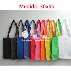 bolsas ecologicas publicitarias de notex en doble asa plana en allpublicidad