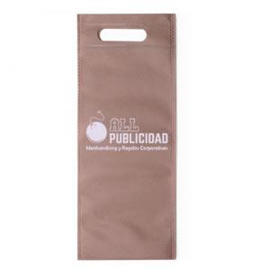 bolsa para botella de tela ecologica en color natural o biege en allpublicidad