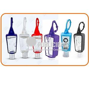 gel antibacterial de 30ml con sujetador de silicona
