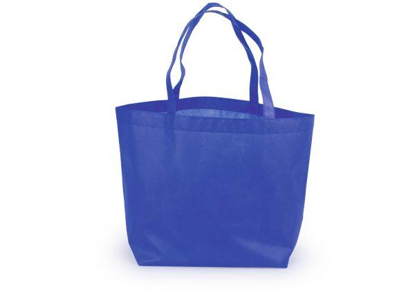 bolsa ecologica de notex con base 40x40x8 color azul
